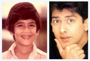 Aftab  Shivdasani as a child actor and when he first debuted in mast