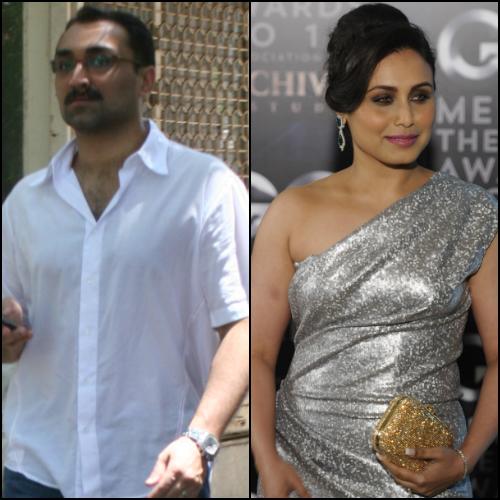 aditya chopra and rani mukerji - wedding bells