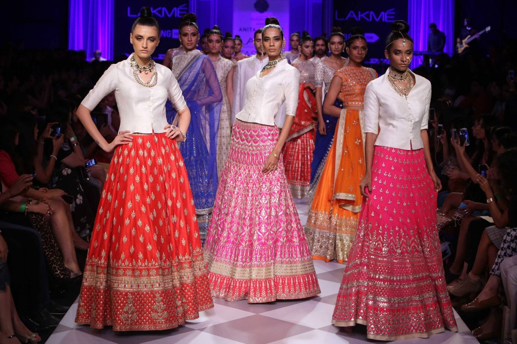 Anita Dongre's Indian Bridal collection at Lakme Fashion Week 2014
