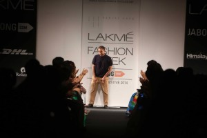 Sanjay Garg at the Lakme Fashion Week Winter Festive 2014 edition