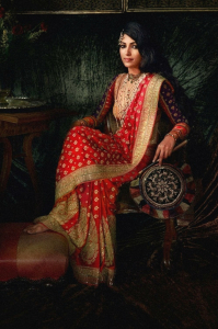 wedding sarees - red and gold