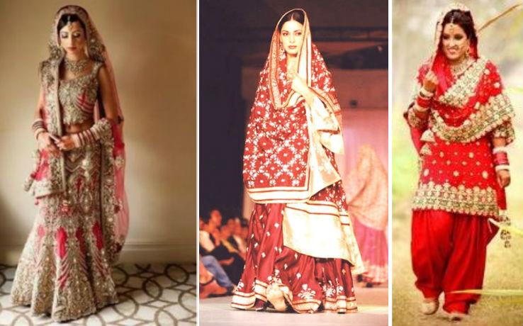 Punjabi lehenga and salwar kameez