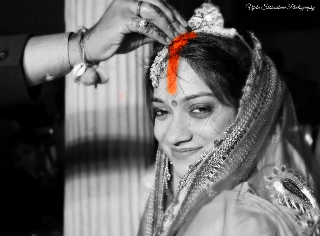 Bride at an Indian Wedding Ceremony