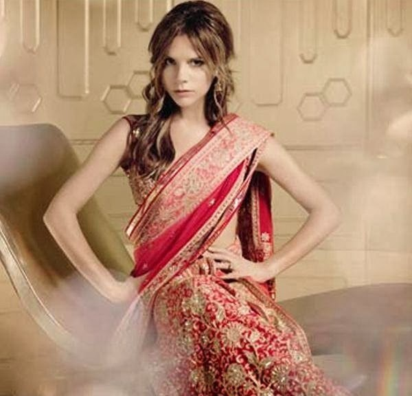 Victoria Beckham in a Tarun Tahiliani ensemble - Bollywood Sarees