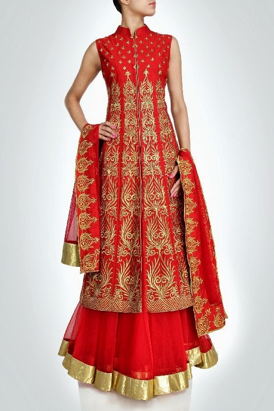 long red jacket   Fashion in India
