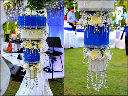 Blue & White Chandelier Cake | The New Trend of Indian Wedding Cakes