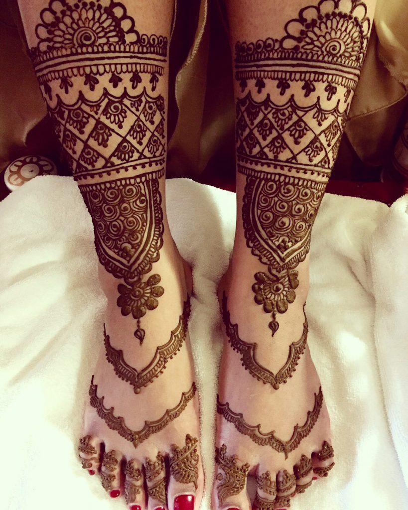 Bridal Mehendi for the Feet