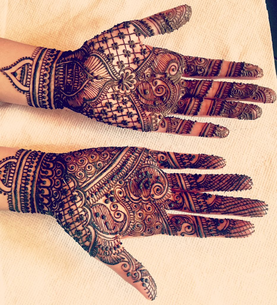 Bridal Mehendi for the Hands until the wrists